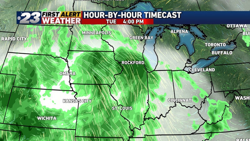The entire area is likely to see light to moderate rain by the afternoon, with a few rumbles of...
