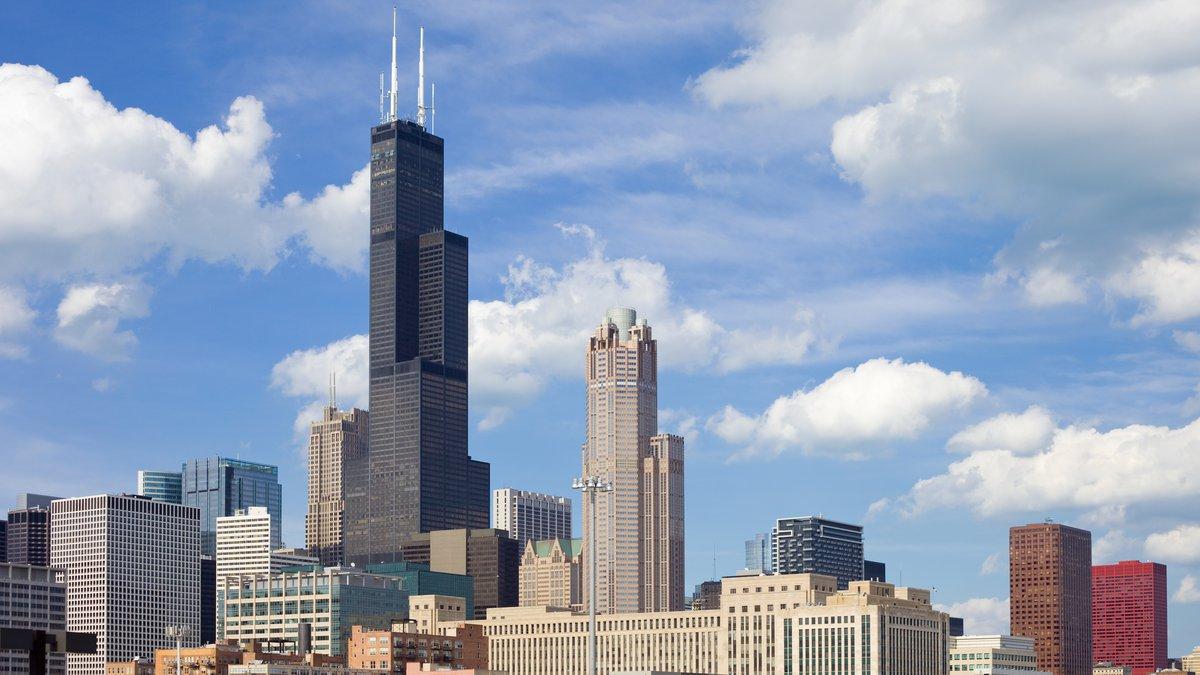Skyline of downtown Chicago, USA.
