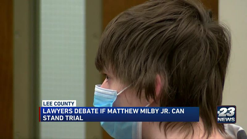 Matthew Milby Jr. in court for discharge hearing