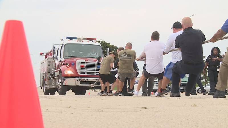 Fire and police personnel go head to head to raise funds for local kids battling cancer.