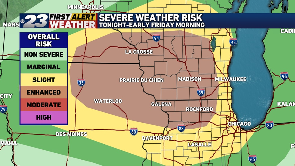 Overnight storms are on the way for the Stateline.