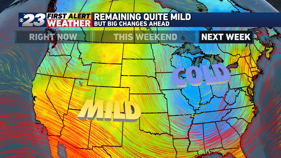 The jet stream will buckle in a big way early next week, sending a chunk of cold air barreling...