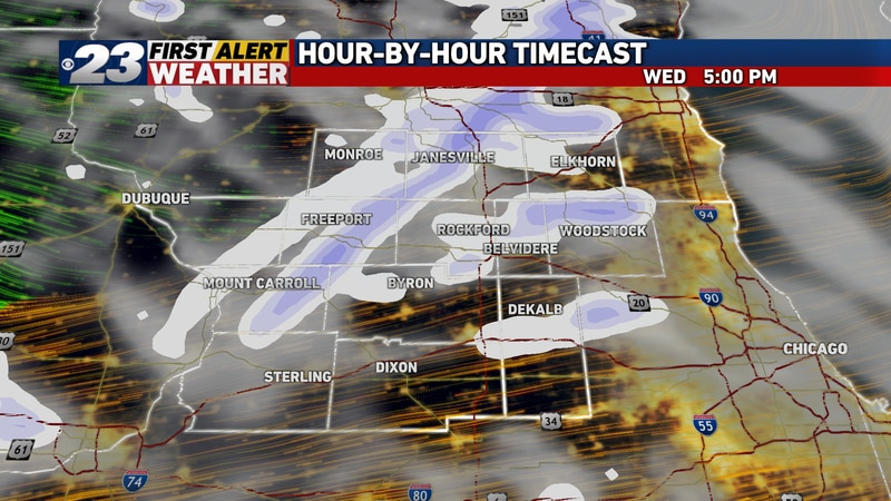 Come late afternoon or early evening Wednesday, any precipitation would come as snow as...
