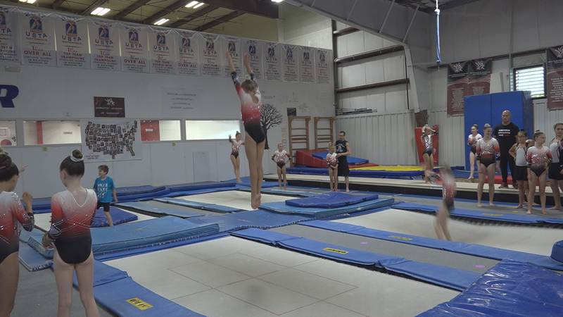 The academy's trampoline team is used to landing first place, but the title at nationals meant...
