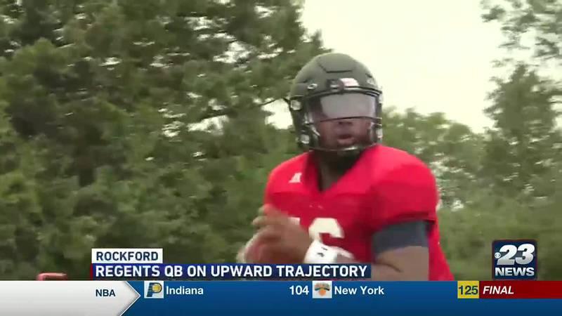 Rockford University quarterback Jaelen Ray is setting all sorts of school records this season.