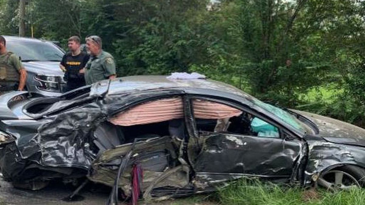 Three children are safe after a human trafficking suspect's car rolled over and crashed during a high speed chase Wednesday.