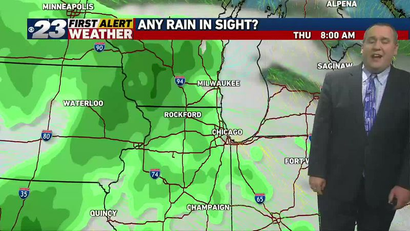 Needed rainfall may finally be coming into view next week.