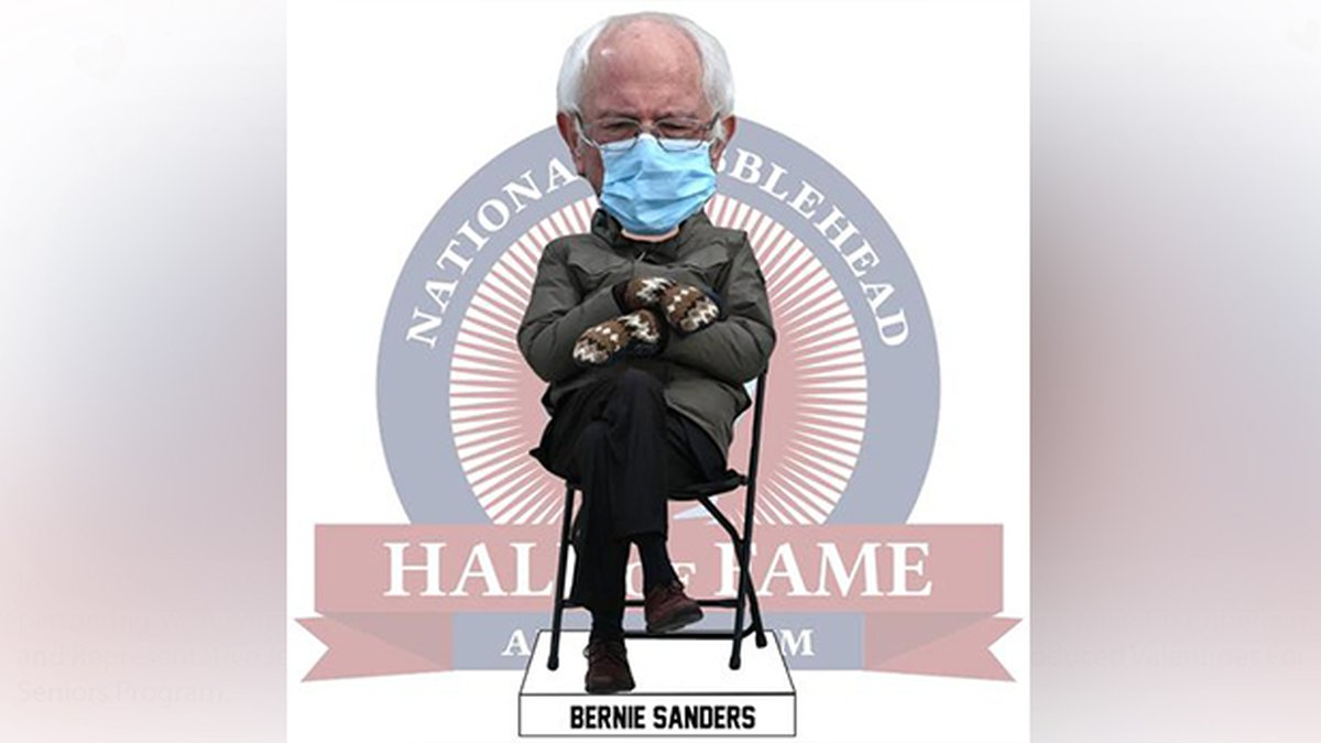 There is already a bobblehead of Inauguration Day Bernie Sanders that went viral that is...