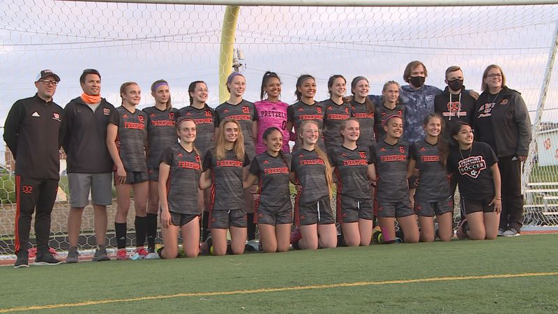 Freeport girls soccer won its first conference title outright by beating Boylan 2-0 at home on...