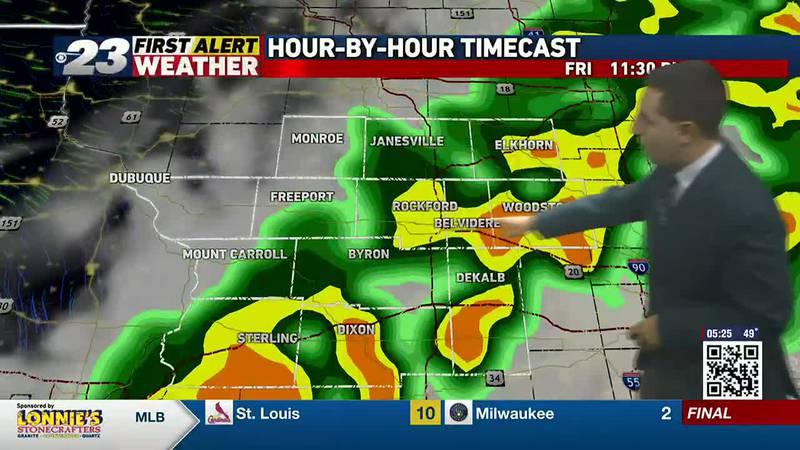 Rain chances Friday