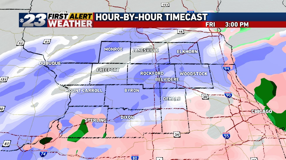 Snow will switch to a mix, primarily of freezing rain, from south to north Friday morning. The...