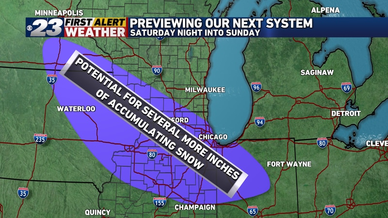 We continue to monitor a potential for a system to bring several inches of accumulating snow to...