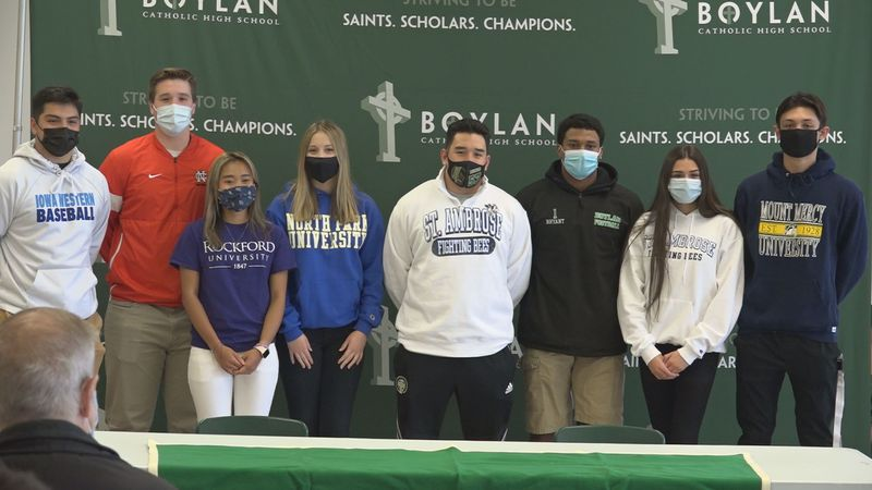 Eight athletes at Boylan sign the dotted line to play at the next level, and Auburn's Kai...