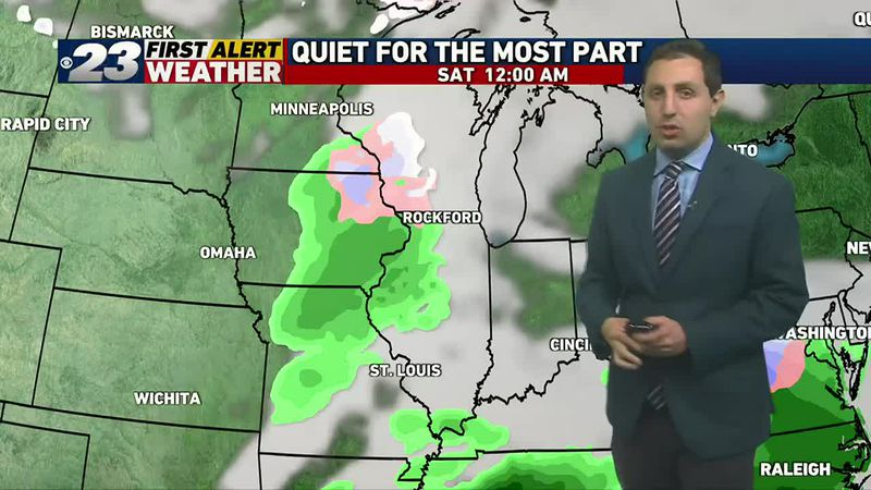 Next precipitation chances arrive late Friday