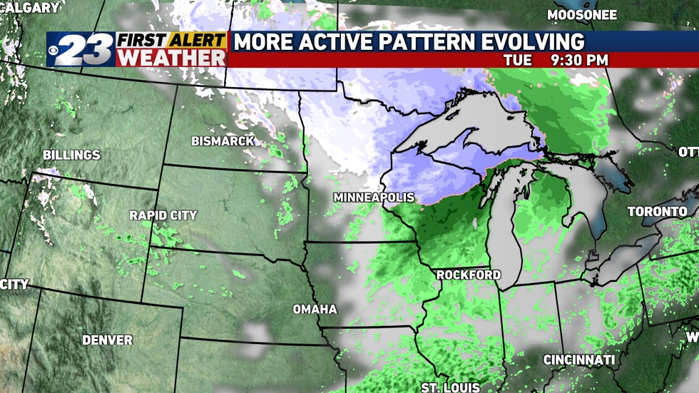 The next system to take aim on the region will arrive late Tuesday. This one promises only to fall as rain here.