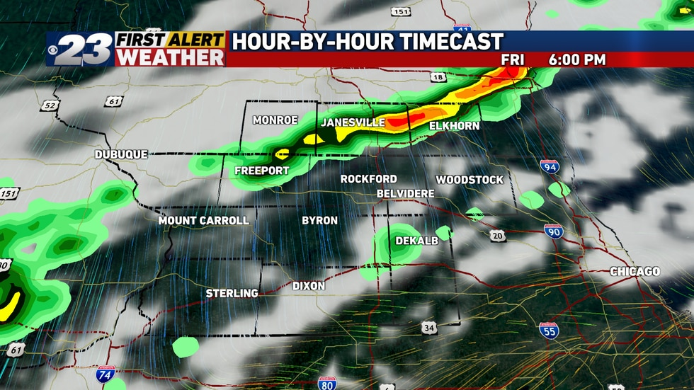 A cold front may trigger a few showers and storms late Friday or Friday evening, though chances...