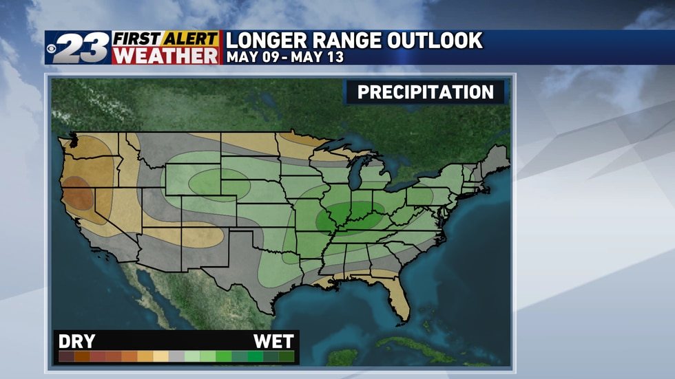 It's encouraging to see that the area's favored for a potentially wetter pattern late this week...