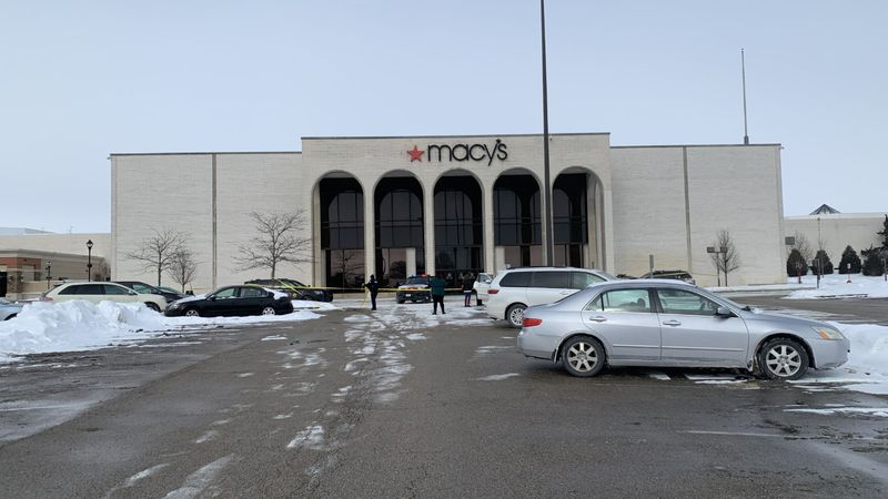 Cherry Valley Police investigate after they say shots were fired outside of Macy's at the...