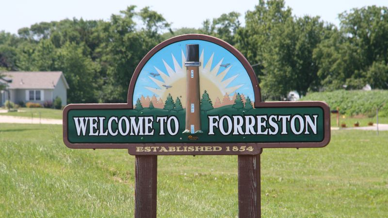 Forrestion, Illinois sign