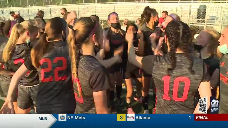 Freeport girls soccer defeated Boylan 2-0 to win its first outright NIC-10 title under head...