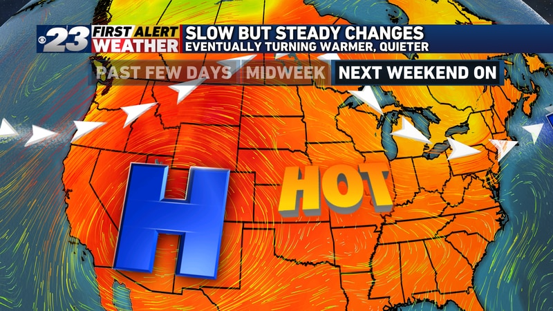 The jet stream is to retreat into Canada, allowing for a dome of heat to expand eastward into...