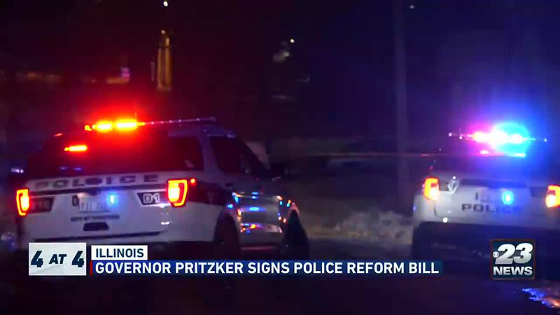 Gov. Pritzker signs police reform bill.