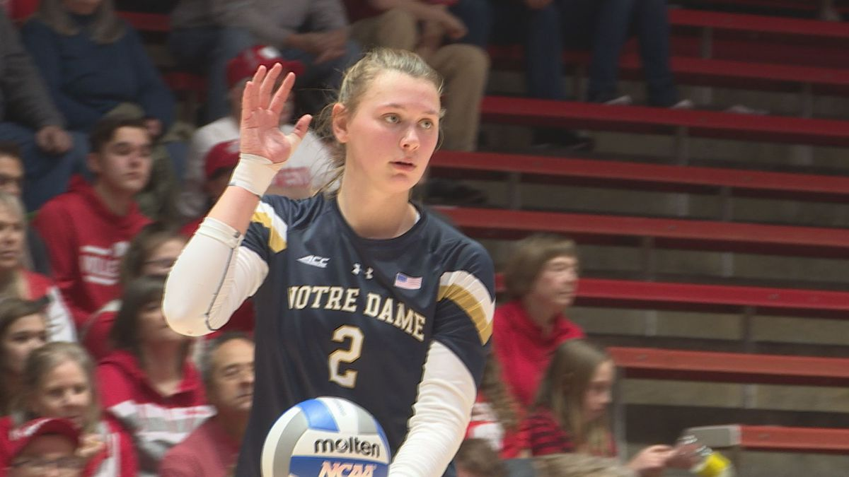 Notre Dame prepares for its spring volleyball season. Rockford native Zoe Nunez has become one...
