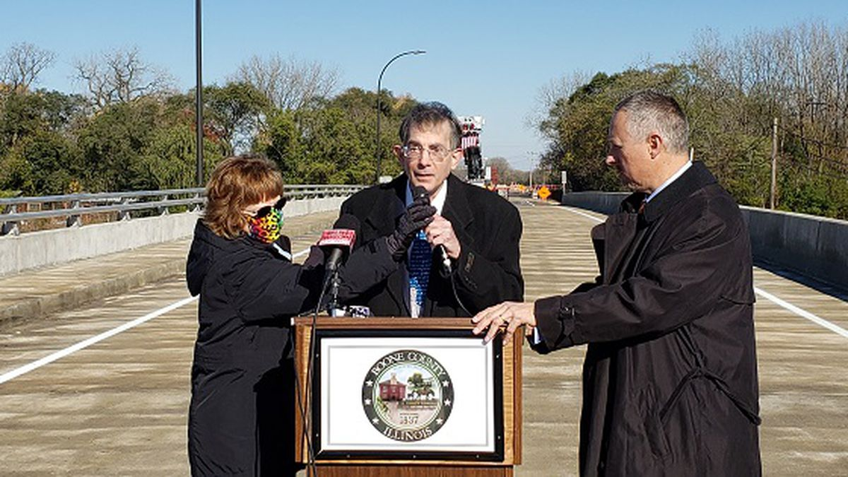 The ribbon cutting of the bridge took place on Friday morning.