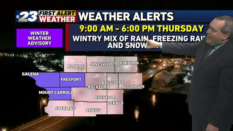 A wintry mix of rain, freezing rain, and snow is likely over much of the Stateline Thursday,...