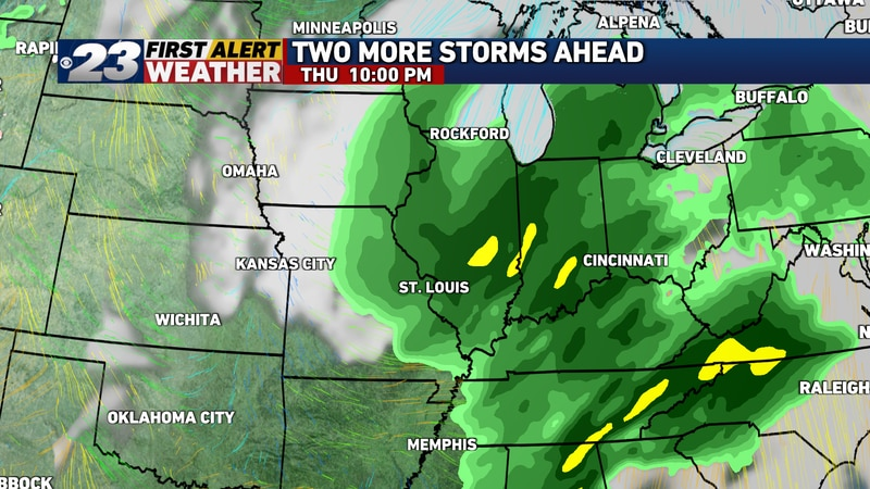 Rain is likely to have overspread the entire region by late Thursday evening.