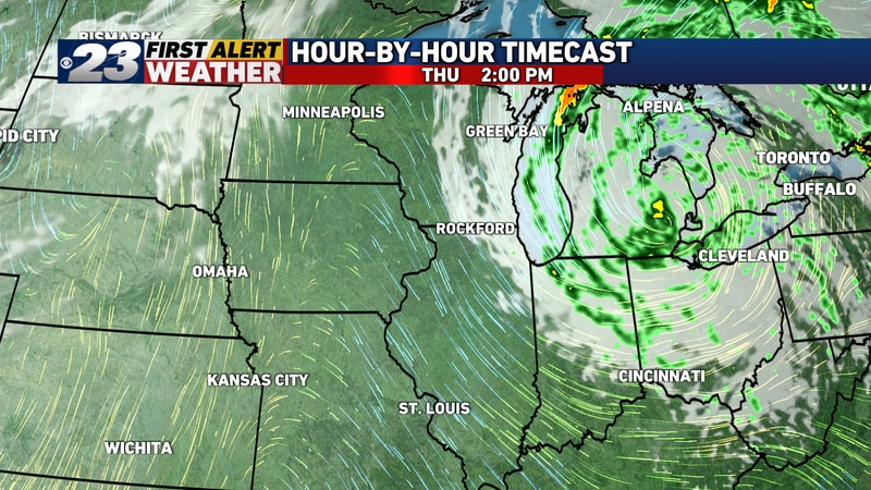 Clouds may still linger over the eastern half of the area Thursday. A sprinkle can't be ruled...