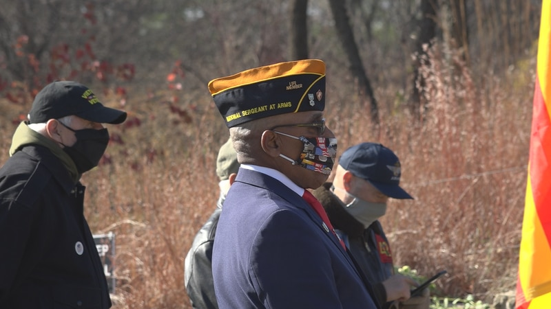 Community members and local vets joined together at the LZ Peace Memorial in Rockford to...