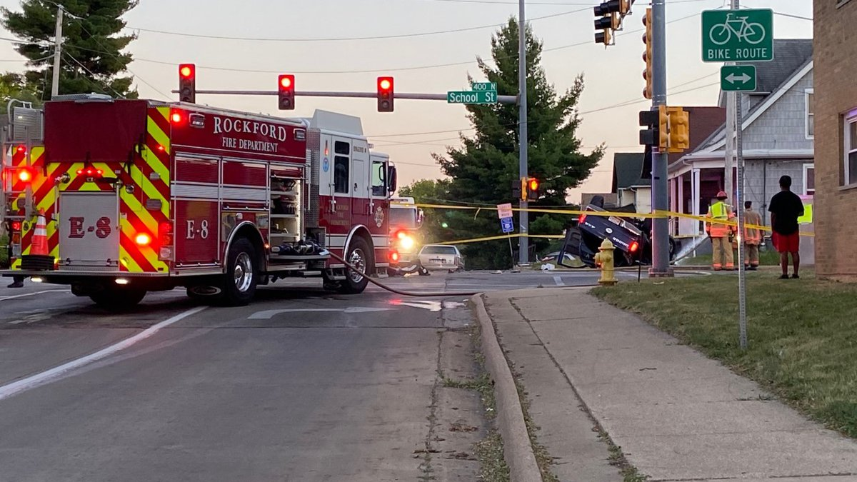 The intersection of School Street and N. Central Avenue is shut down as officers investigate...