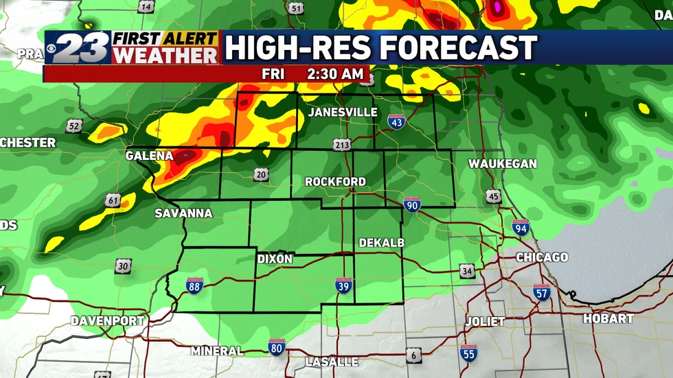 Storms are likely to move through the Stateline overnight.