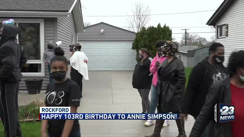 Annie Simpson turns 103-years-old