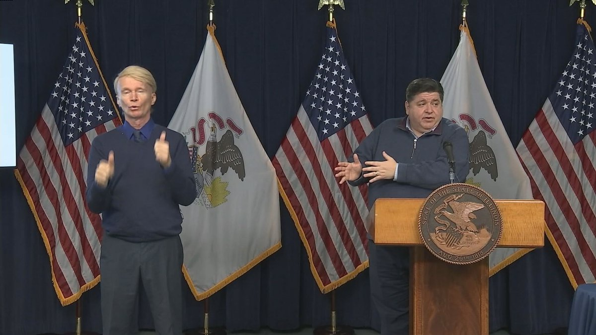 Governor Pritzker responds directly to a call by a local state representative to ease...