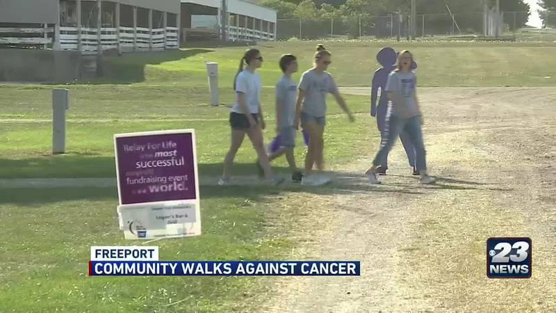 Community walks against cancer