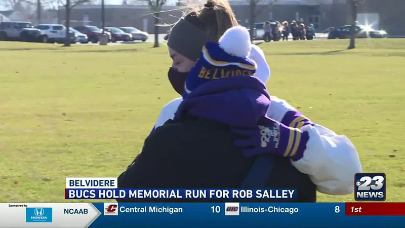 The Belvidere community came together to honor Salley, who passed away unexpectedly last week.