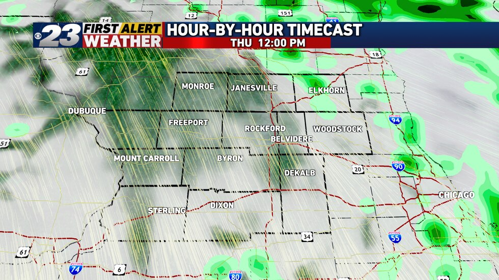 Dry hours are likely to occur Thursday, and a few peeks of mixed sun aren't even out of the...
