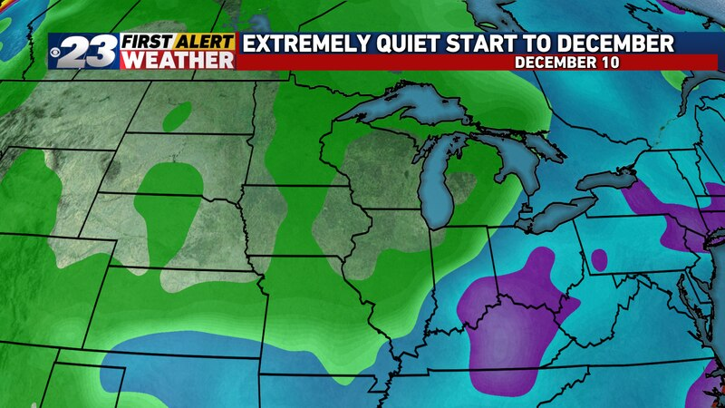Right now, there are no indications that any precipitation will occur here over December's...