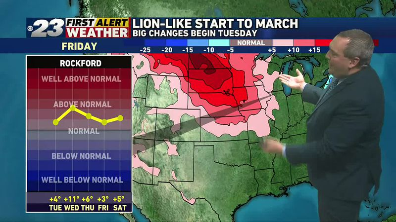 A much warmer pattern is on tap for the first several days of March, and quite likely well...