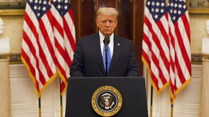 President Donald Trump releases his farewell address.