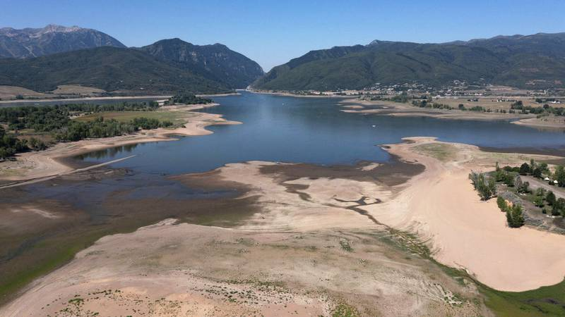 This Thursday, Aug. 12, 2021 file photo shows the Pineview Reservoir, a popular recreation spot...