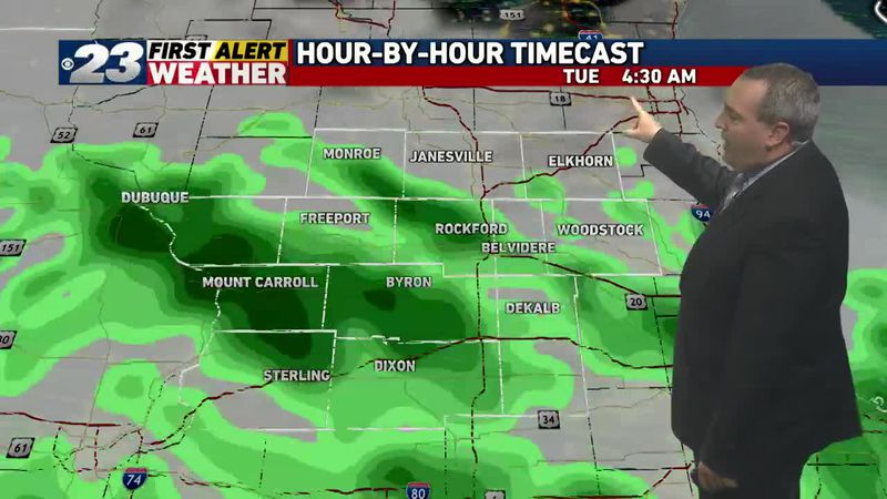 Several bouts of rain may be in our forecast this week.