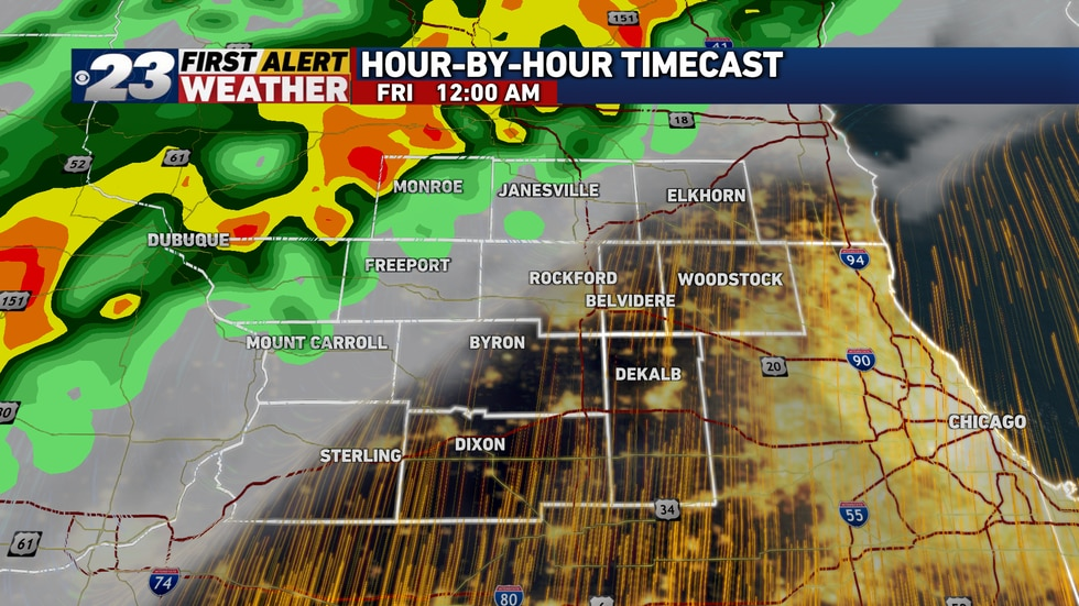Even at the midnight hour, most of the Stateline's expected to remain dry and warm. Our high of...
