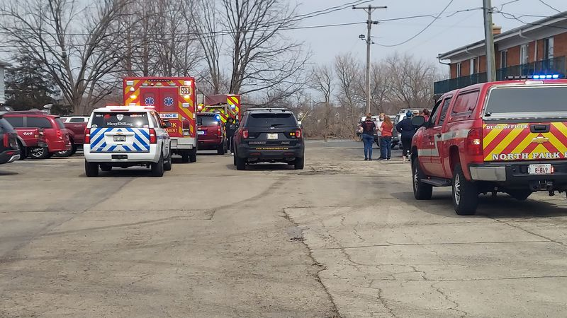 A number of agencies were called to an apartment complex near Northway Park Road in Machesney...
