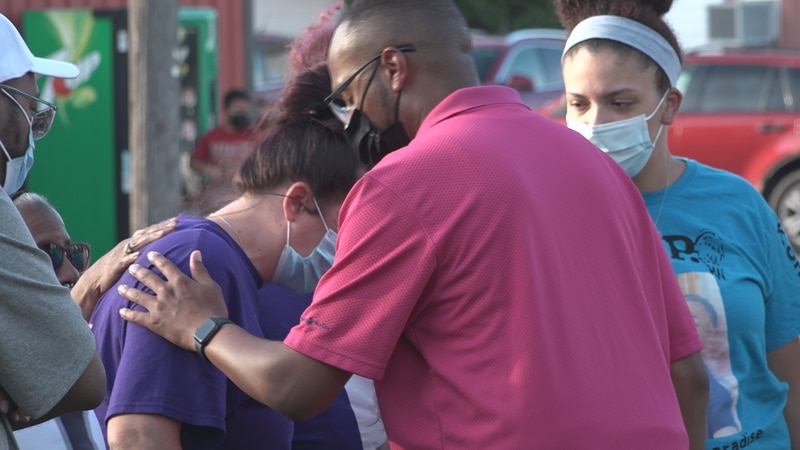 Community members gathered in Freeport Wednesday night to voice their concerns about gun...