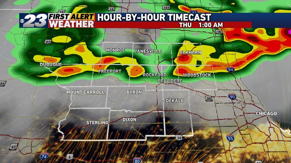 A quick-moving line of potentially severe storms will move through the Stateline late Wednesday...