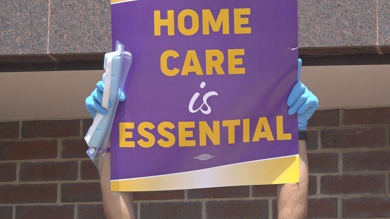Home care workers demand higher wages amid pandemic
