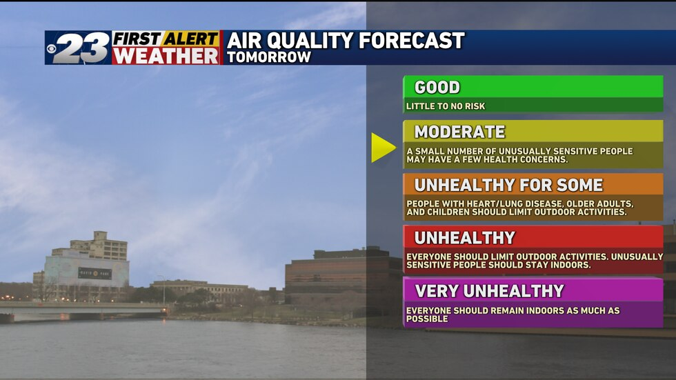 Somewhat thicker concentrations of smoke from western wildfires may degrade our air quality ever so slightly Wednesday.